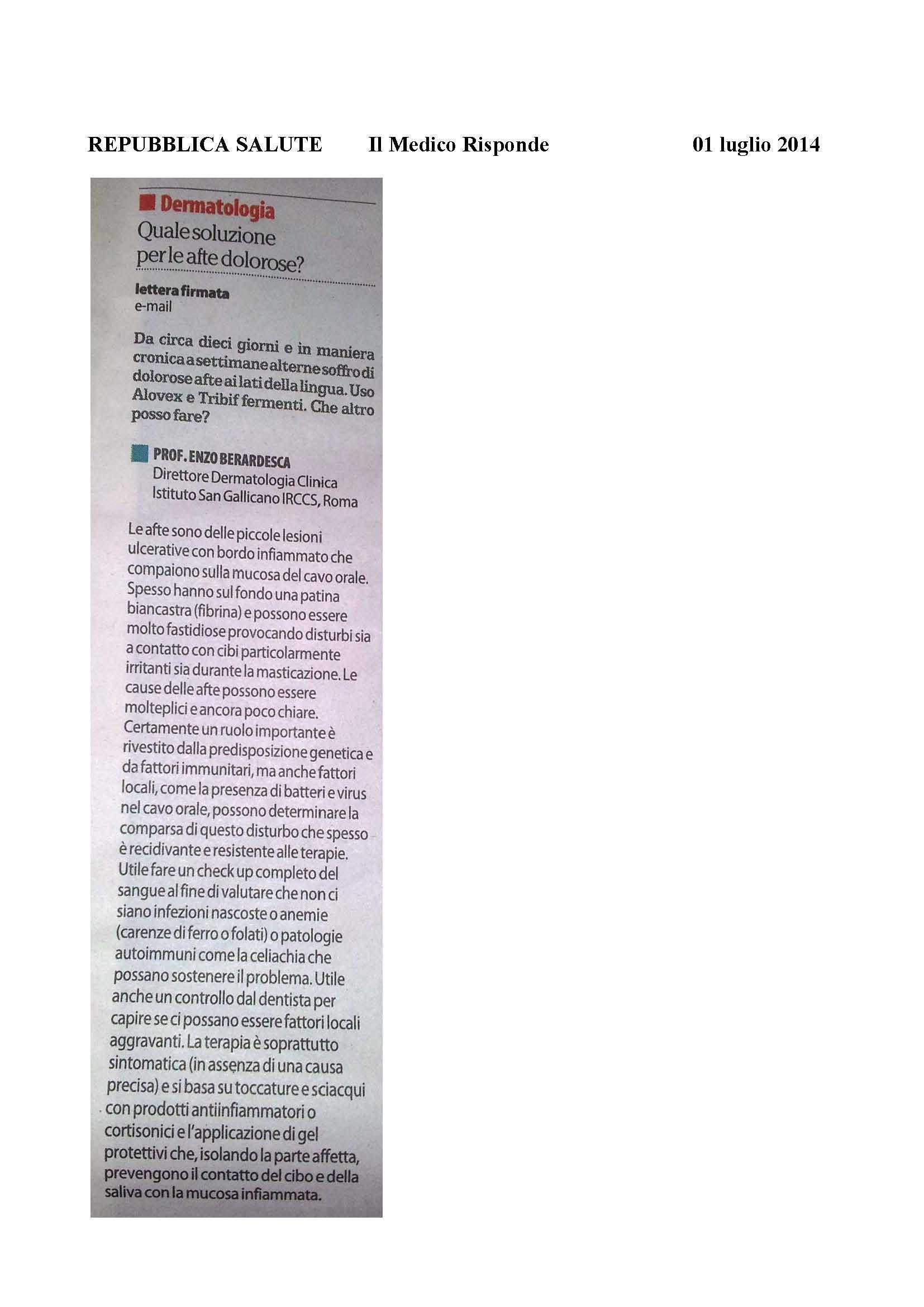 REPUBBLICA SALUTE Il Medico Risponde     01 luglio 2014_Page_1